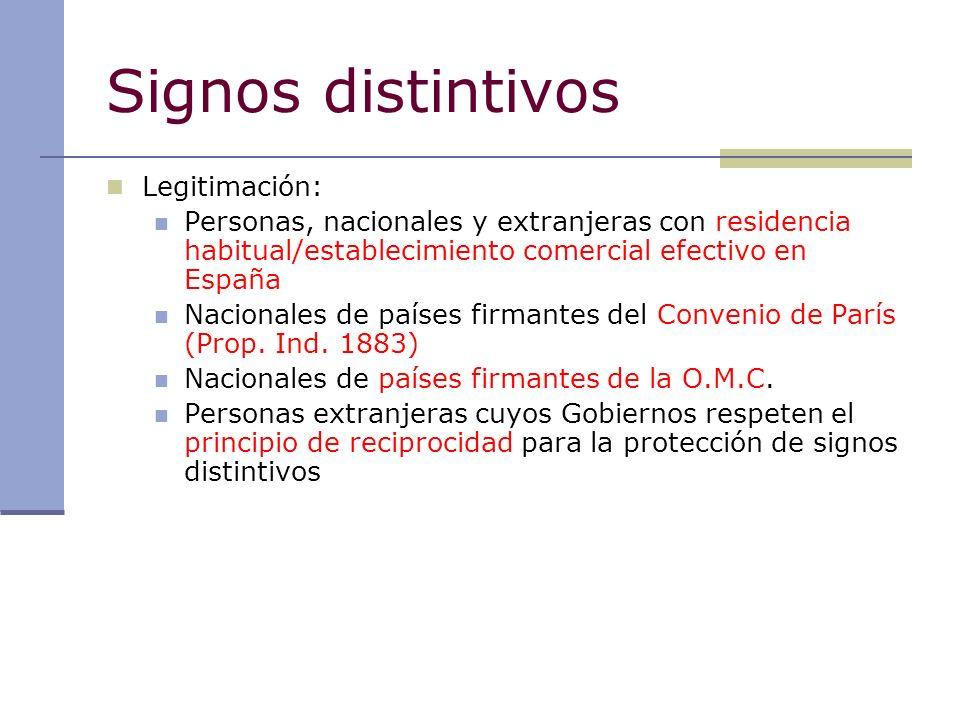 Signos distintivos Legitimación: