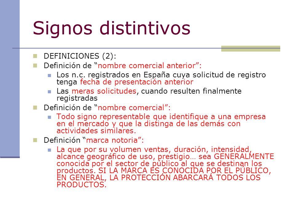Signos distintivos DEFINICIONES (2):