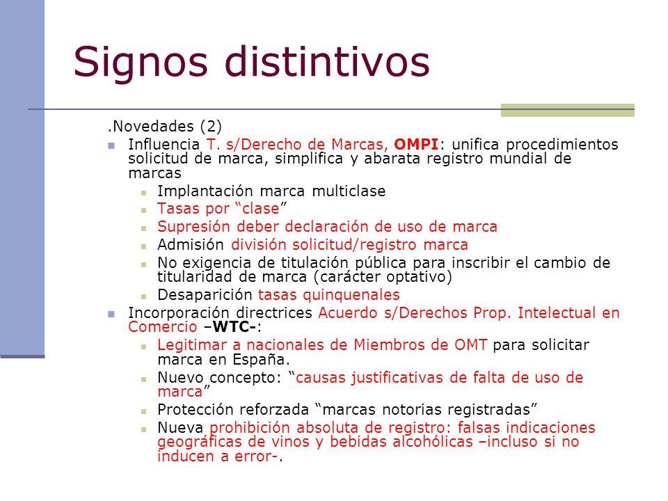 Signos distintivos .Novedades (2)