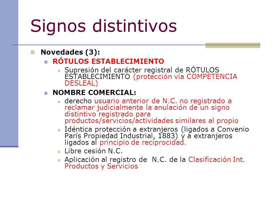 Signos distintivos Novedades (3): RÓTULOS ESTABLECIMIENTO