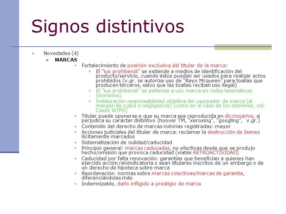 Signos distintivos MARCAS