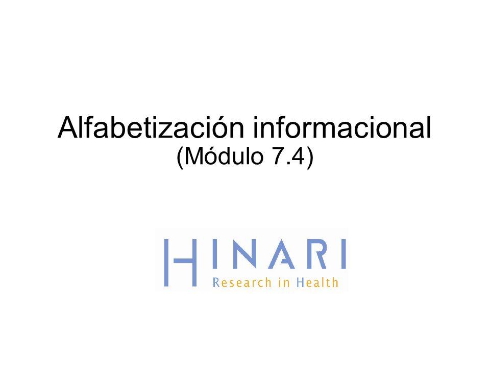 Alfabetización informacional (Módulo 7.4)