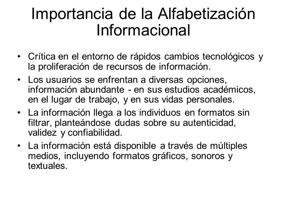 Importancia de la Alfabetización Informacional