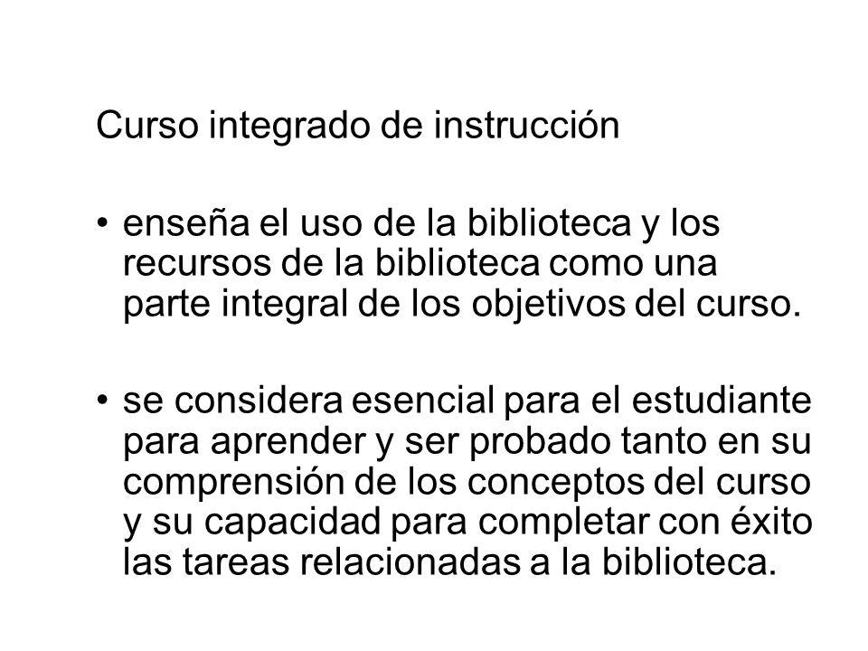 Curso integrado de instrucción