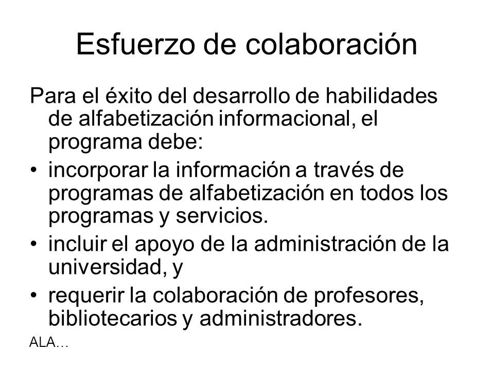 Esfuerzo de colaboración
