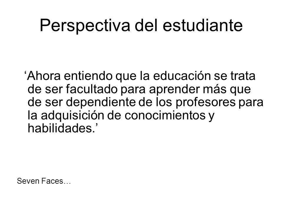Perspectiva del estudiante
