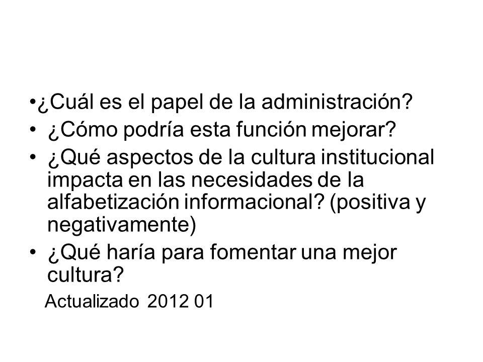 •¿Cuál es el papel de la administración