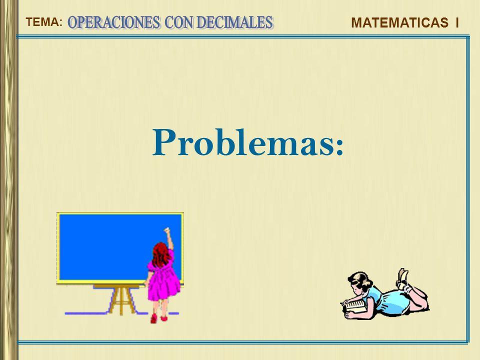 Problemas: