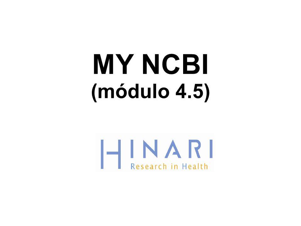 MY NCBI (módulo 4.5)
