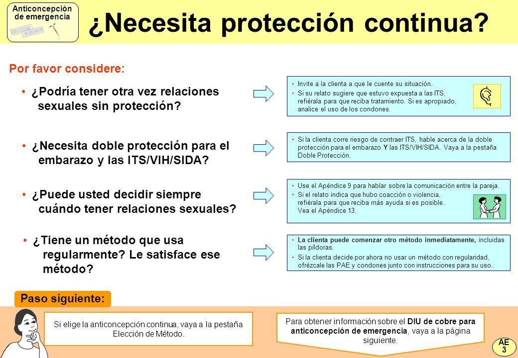 ¿Necesita protección continua