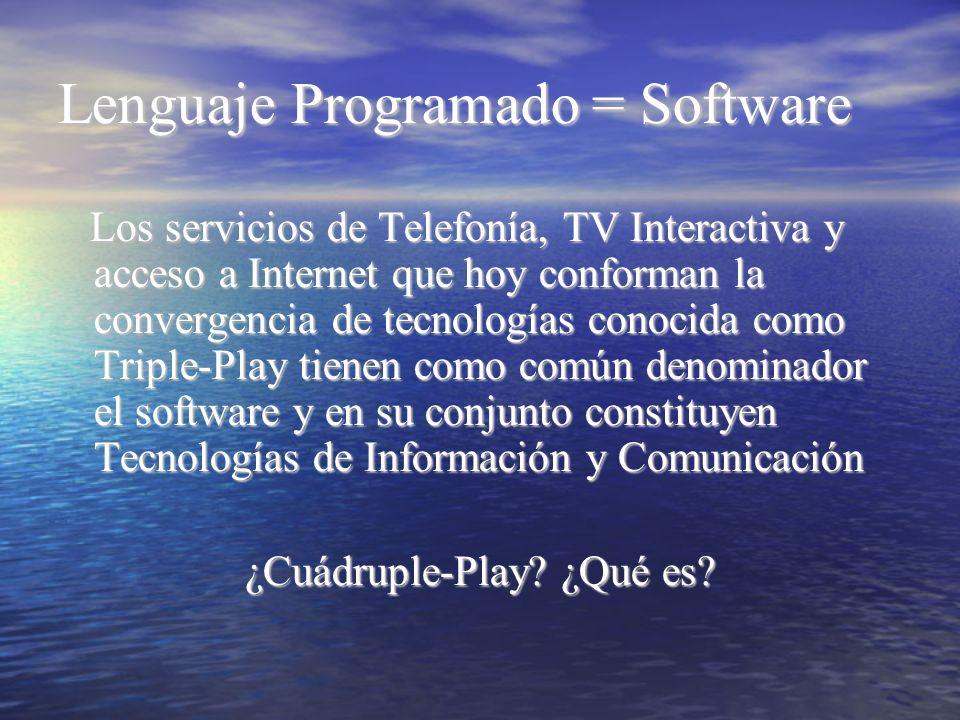 Lenguaje Programado = Software