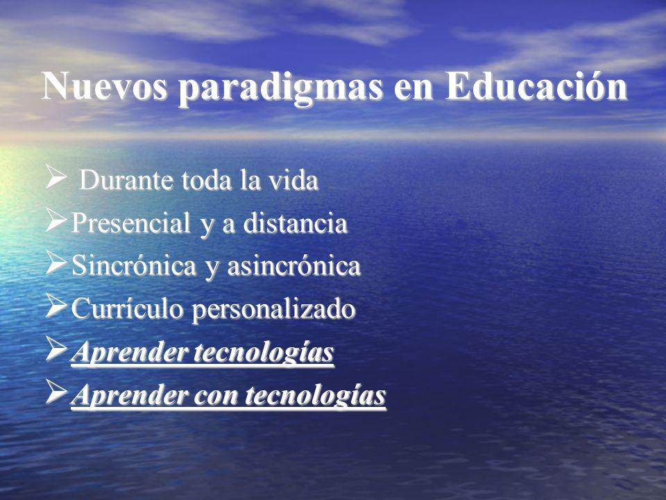 Nuevos paradigmas en Educación