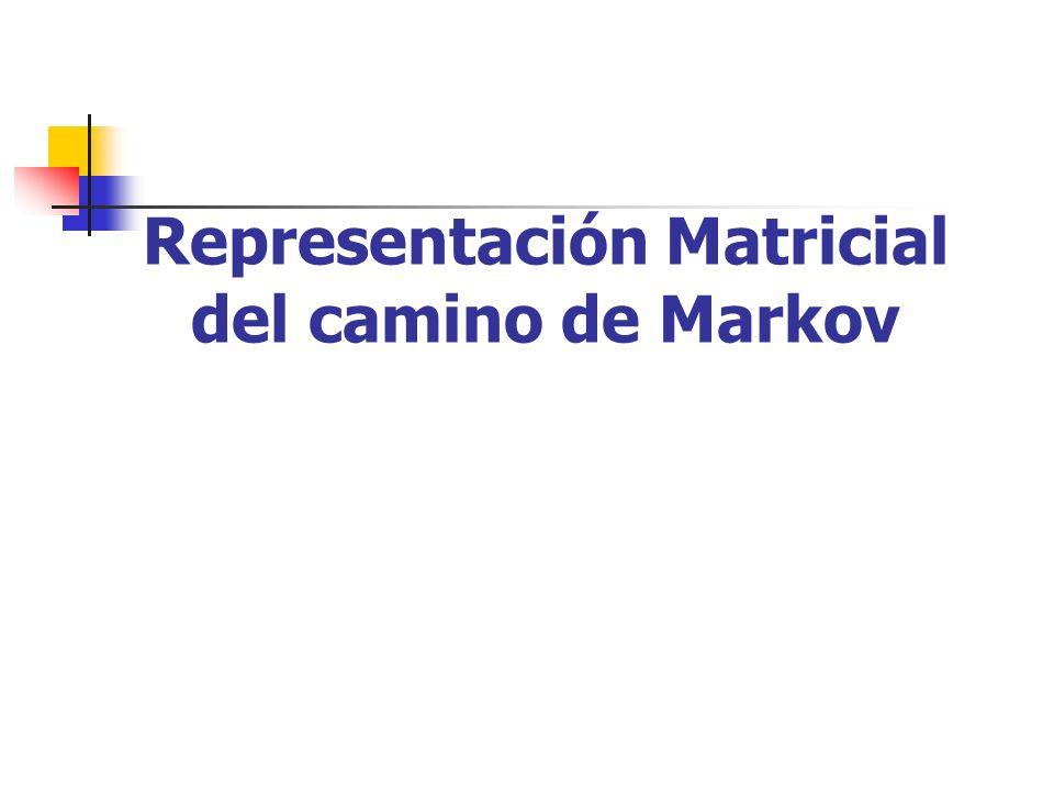 Representación Matricial del camino de Markov