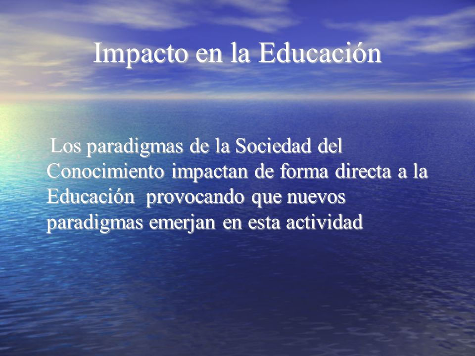 Impacto en la Educación