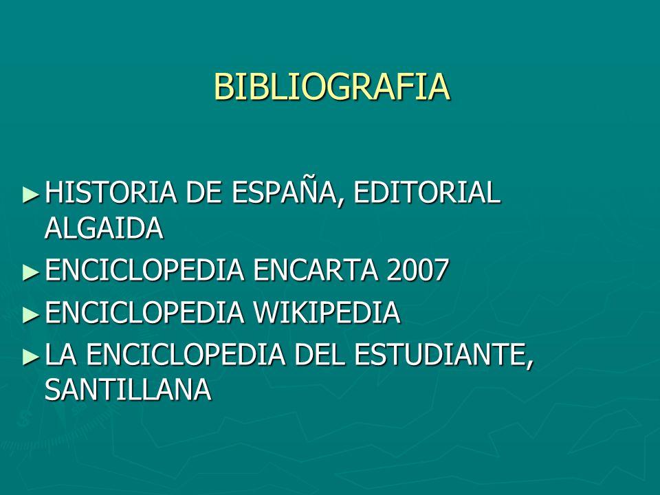 BIBLIOGRAFIA HISTORIA DE ESPAÑA, EDITORIAL ALGAIDA
