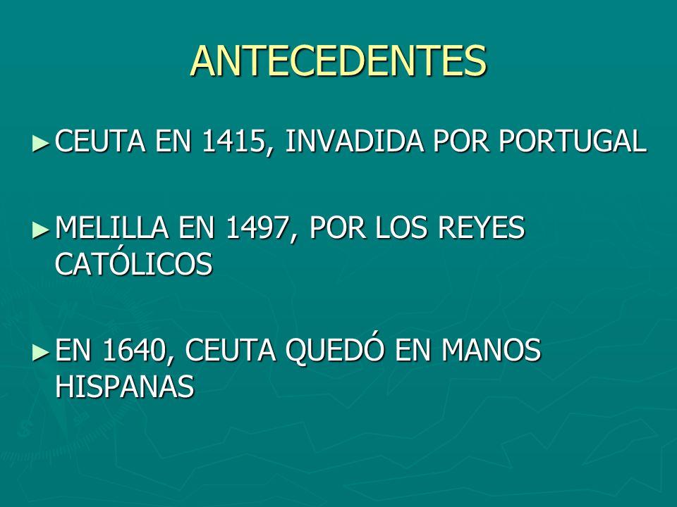 ANTECEDENTES CEUTA EN 1415, INVADIDA POR PORTUGAL