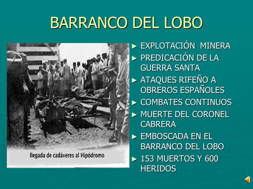 BARRANCO DEL LOBO EXPLOTACIÓN MINERA PREDICACIÓN DE LA GUERRA SANTA