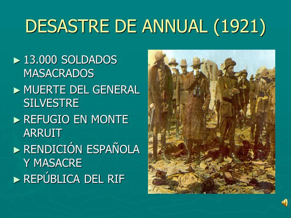 DESASTRE DE ANNUAL (1921) 13.000 SOLDADOS MASACRADOS