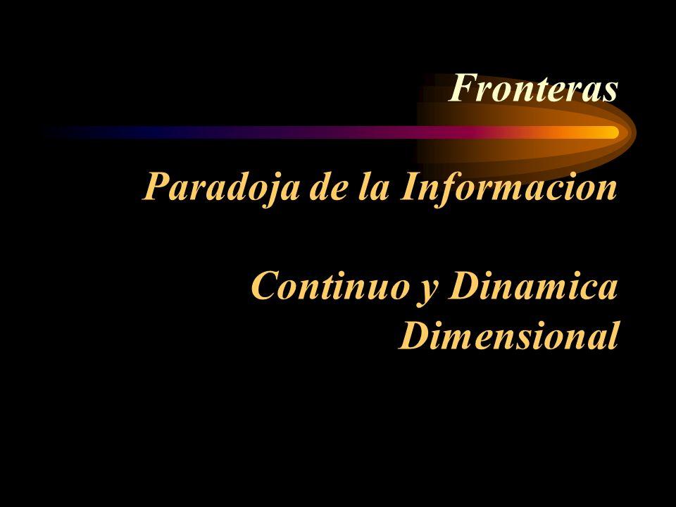 Fronteras Paradoja de la Informacion Continuo y Dinamica Dimensional
