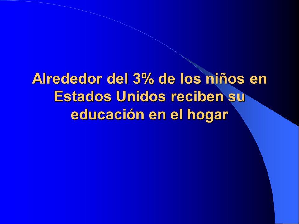 Alrededor del 3% de los niños en Estados Unidos reciben su educación en el hogar