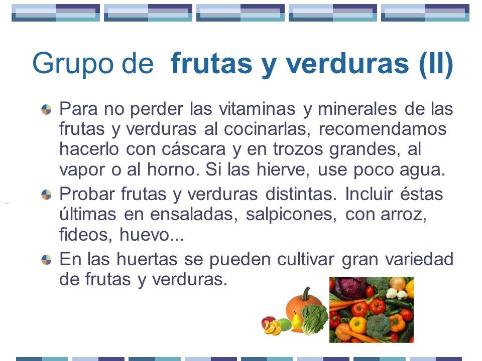 Grupo de frutas y verduras (II)