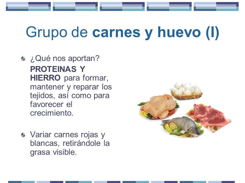 Grupo de carnes y huevo (I)