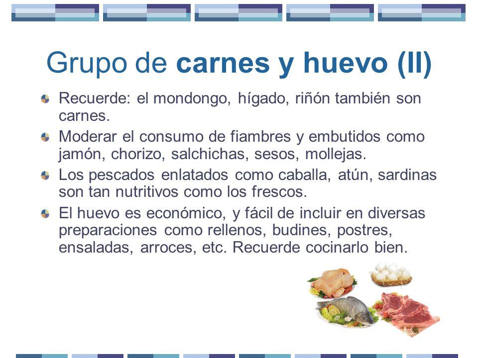 Grupo de carnes y huevo (II)