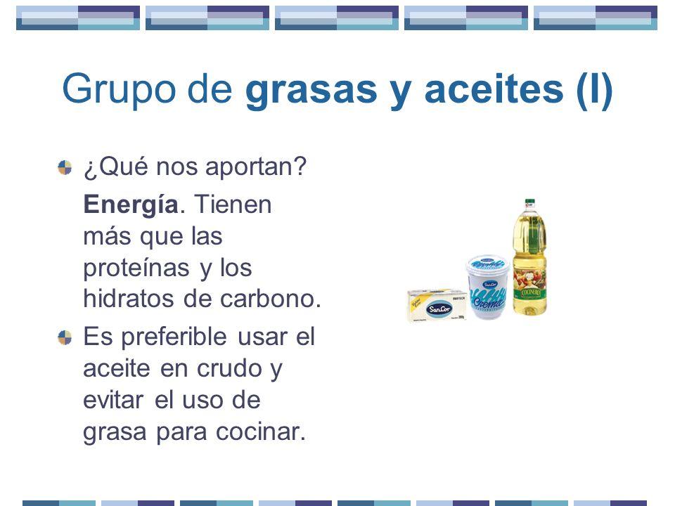 Grupo de grasas y aceites (I)