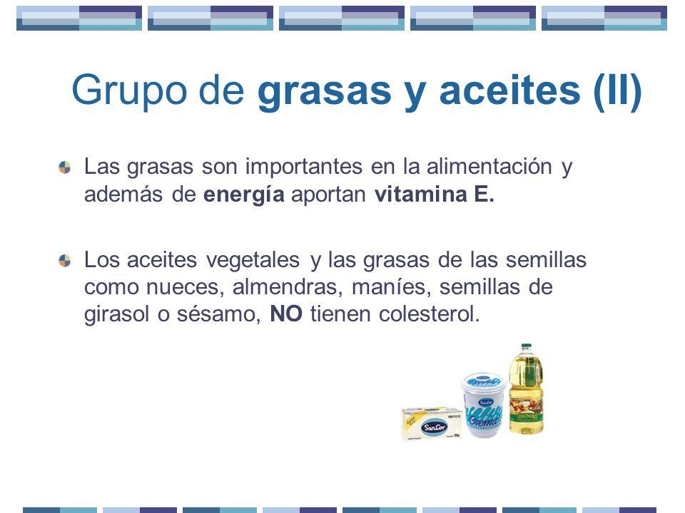 Grupo de grasas y aceites (II)