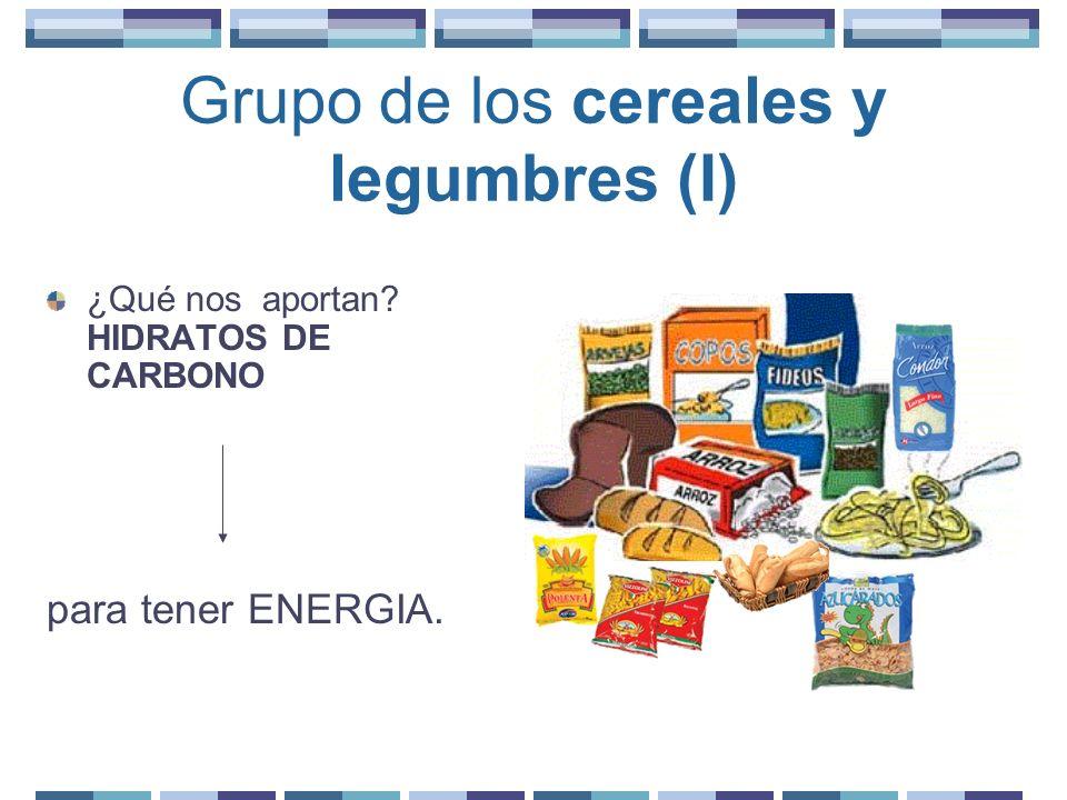 Grupo de los cereales y legumbres (I)