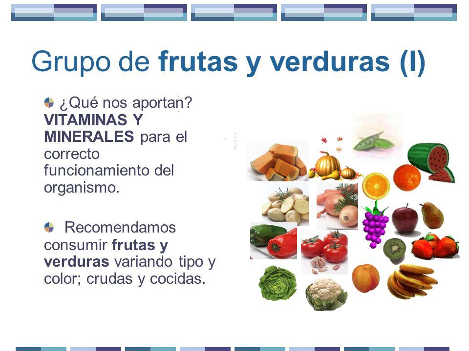 Grupo de frutas y verduras (I)