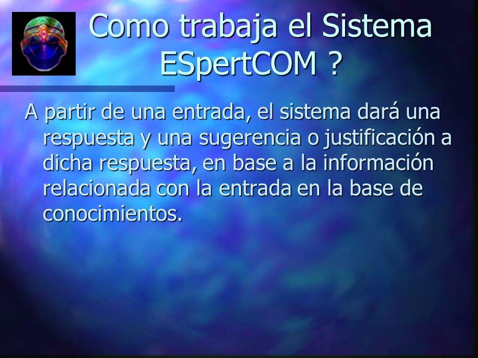 Como trabaja el Sistema ESpertCOM