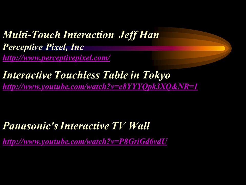 Multi-Touch Interaction Jeff Han Perceptive Pixel, Inc http://www