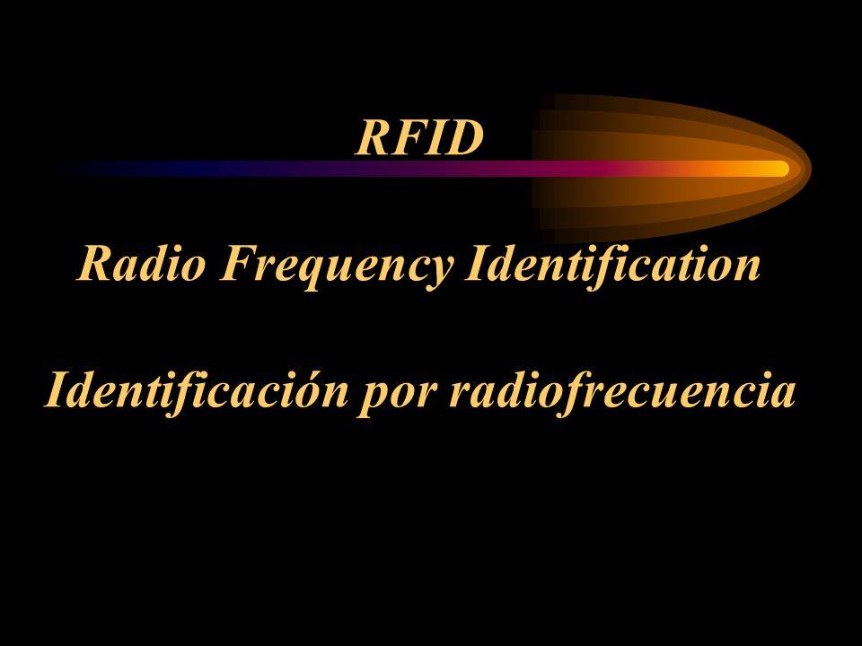 RFID Radio Frequency Identification Identificación por radiofrecuencia