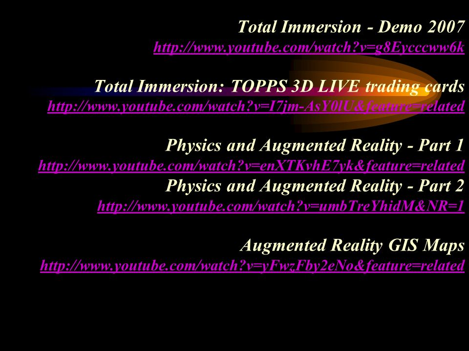 Total Immersion - Demo youtube. com/watch