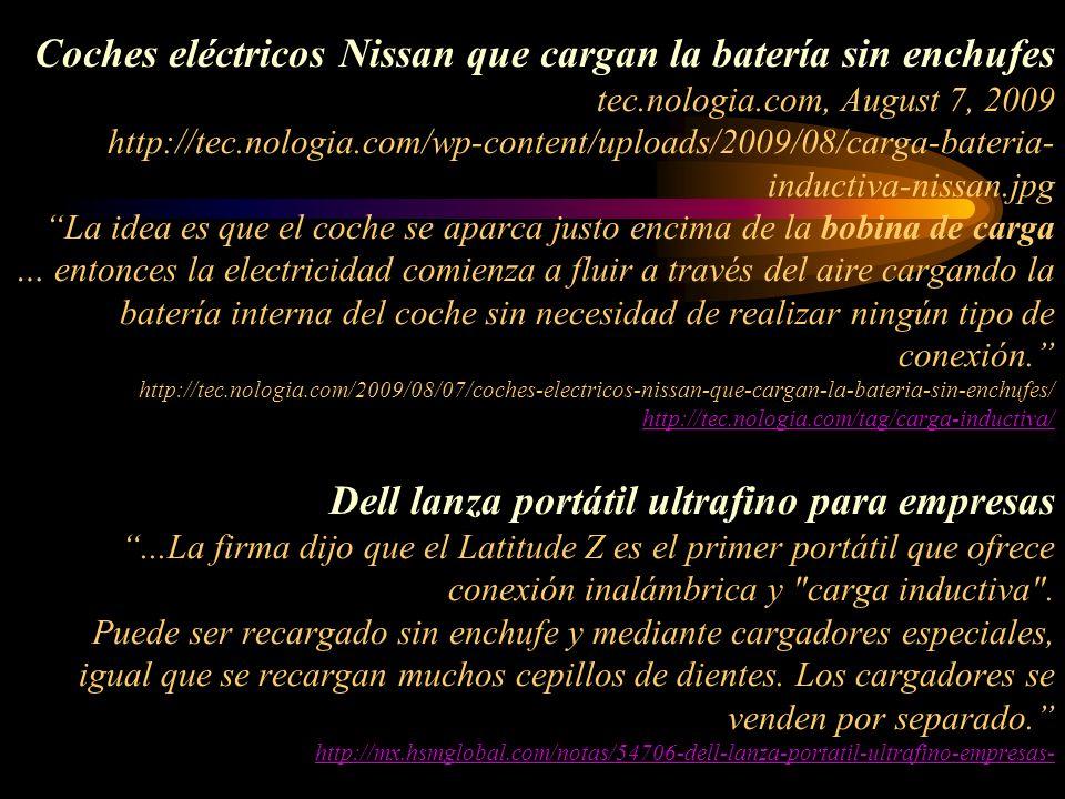 Coches eléctricos Nissan que cargan la batería sin enchufes tec