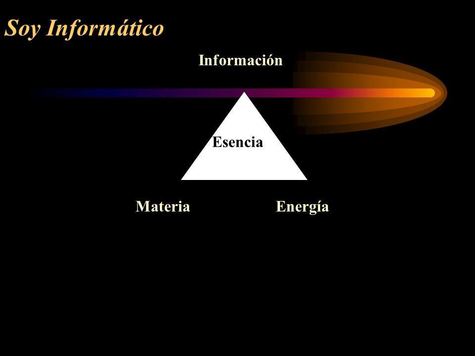 Soy Informático Información Materia Energía Esencia