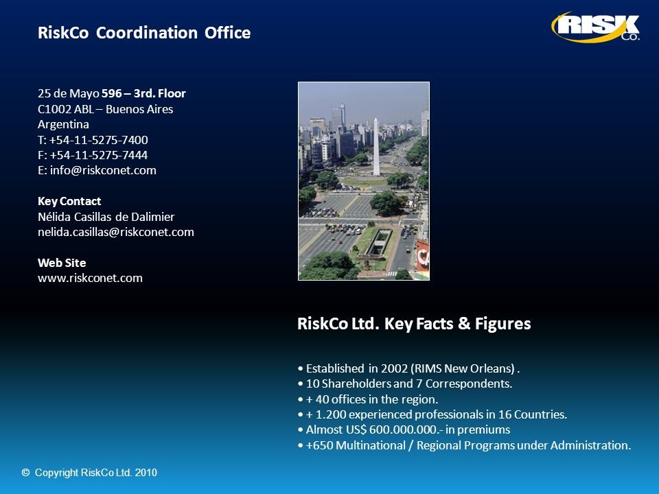 RiskCo Coordination Office