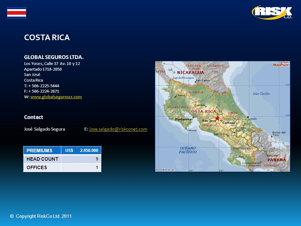 COSTA RICA GLOBAL SEGUROS LTDA. Contact