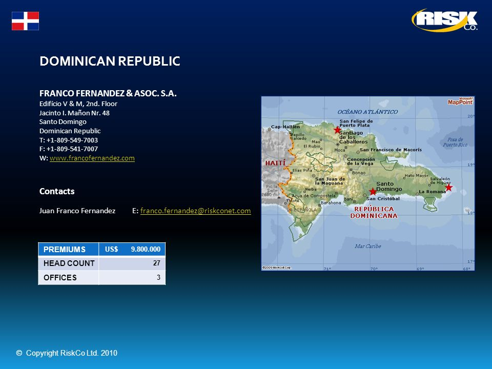 DOMINICAN REPUBLIC FRANCO FERNANDEZ & ASOC. S.A. Contacts