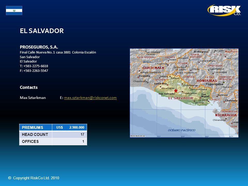 EL SALVADOR PROSEGUROS, S.A. Contacts