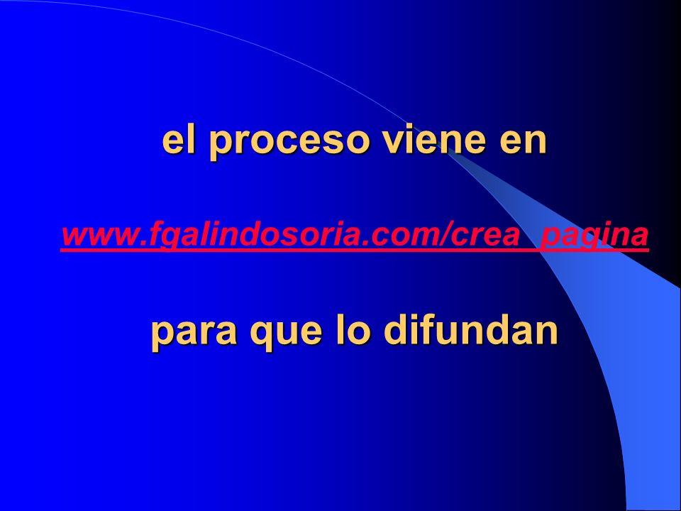 el proceso viene en www. fgalindosoria