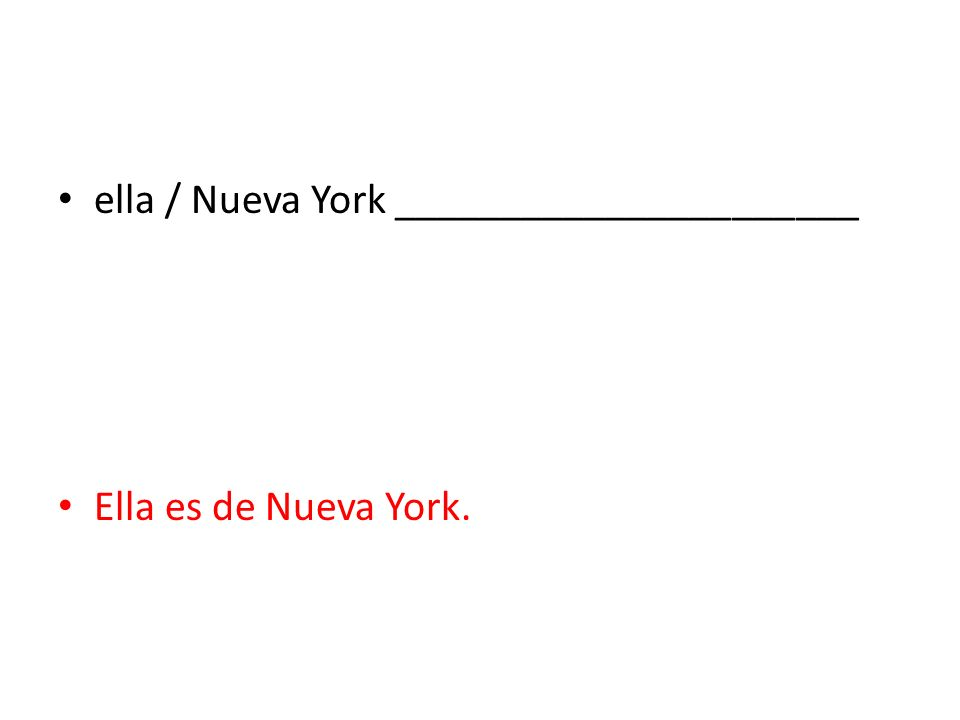 ella / Nueva York ______________________