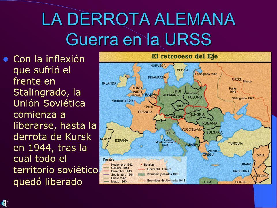 LA DERROTA ALEMANA Guerra en la URSS
