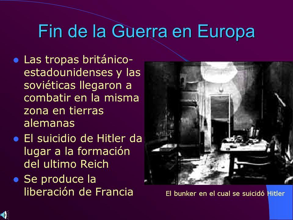 Fin de la Guerra en Europa