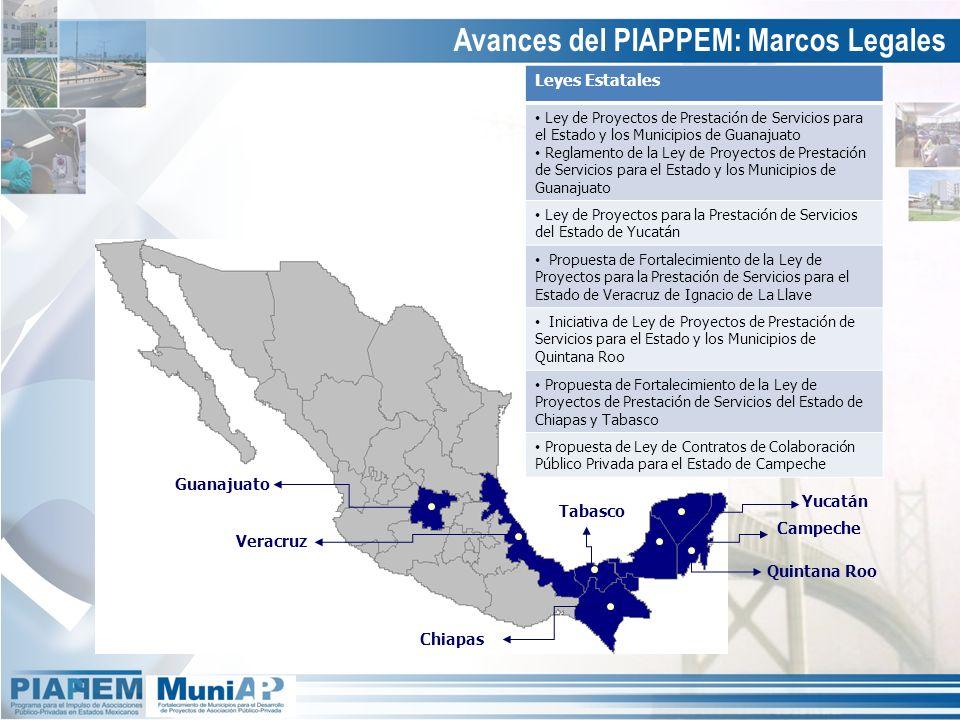 Avances del PIAPPEM: Marcos Legales