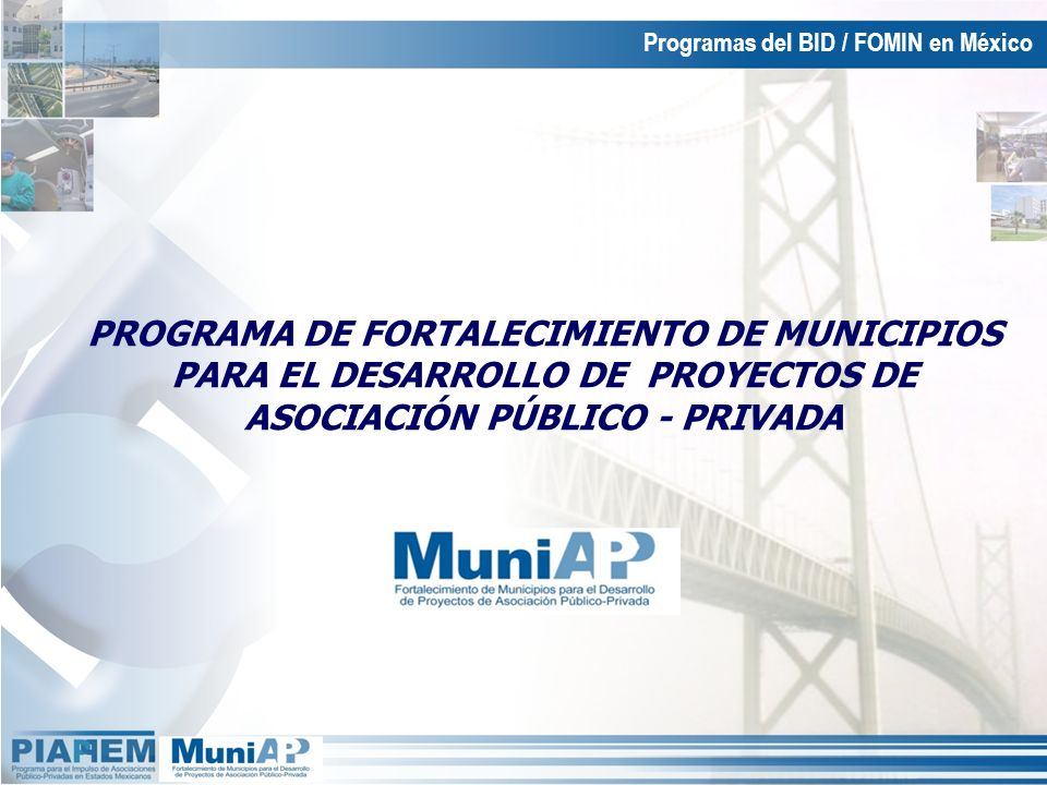Programas del BID / FOMIN en México