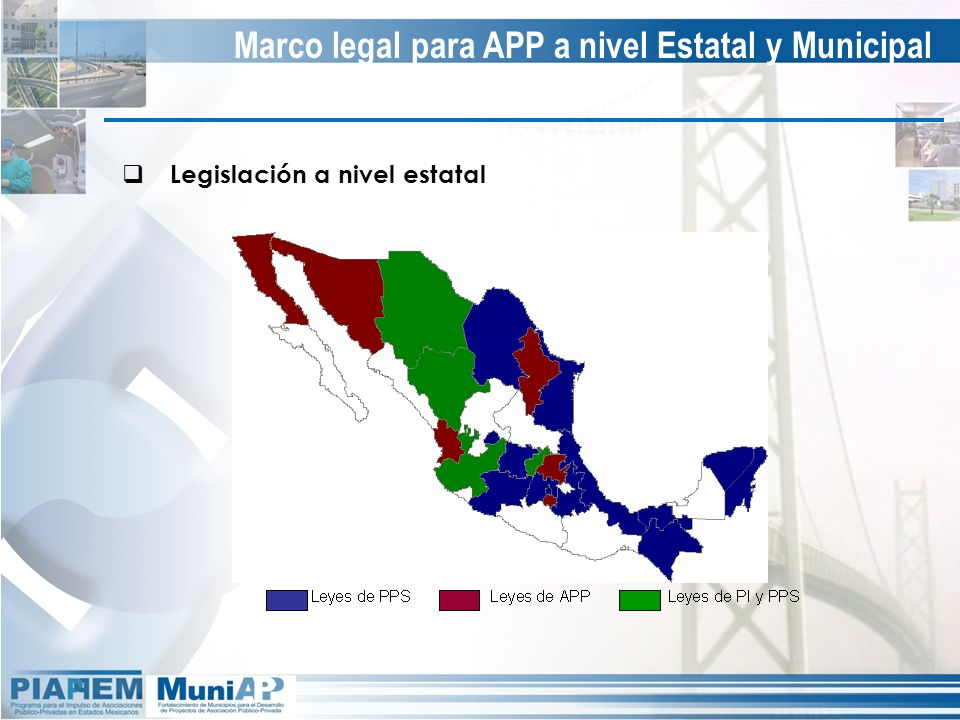 Marco legal para APP a nivel Estatal y Municipal