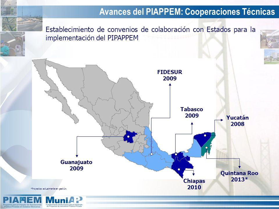 Avances del PIAPPEM: Cooperaciones Técnicas