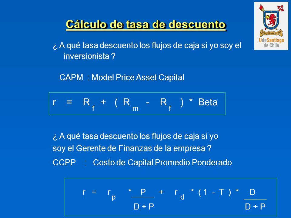 Cálculo de tasa de descuento